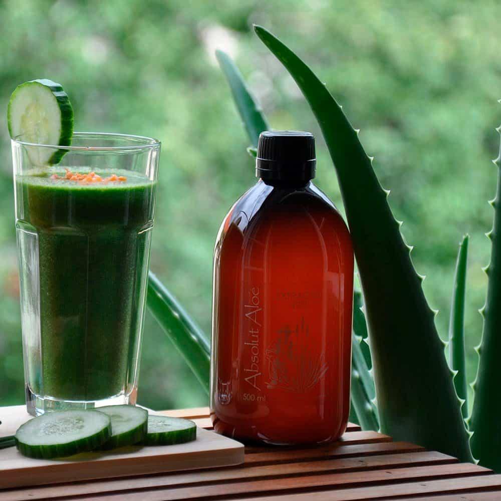 Jugo Aloe Vera Ecológico y Zumo de Pepino