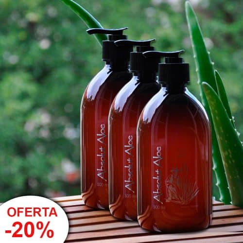 Oferta 3 Botellas Gel Aloe Vera Ecológico Fuerteventura