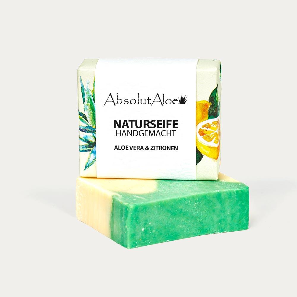 Aloe Vera und Zitronen Seife - AbsolutAloe Fuerteventura