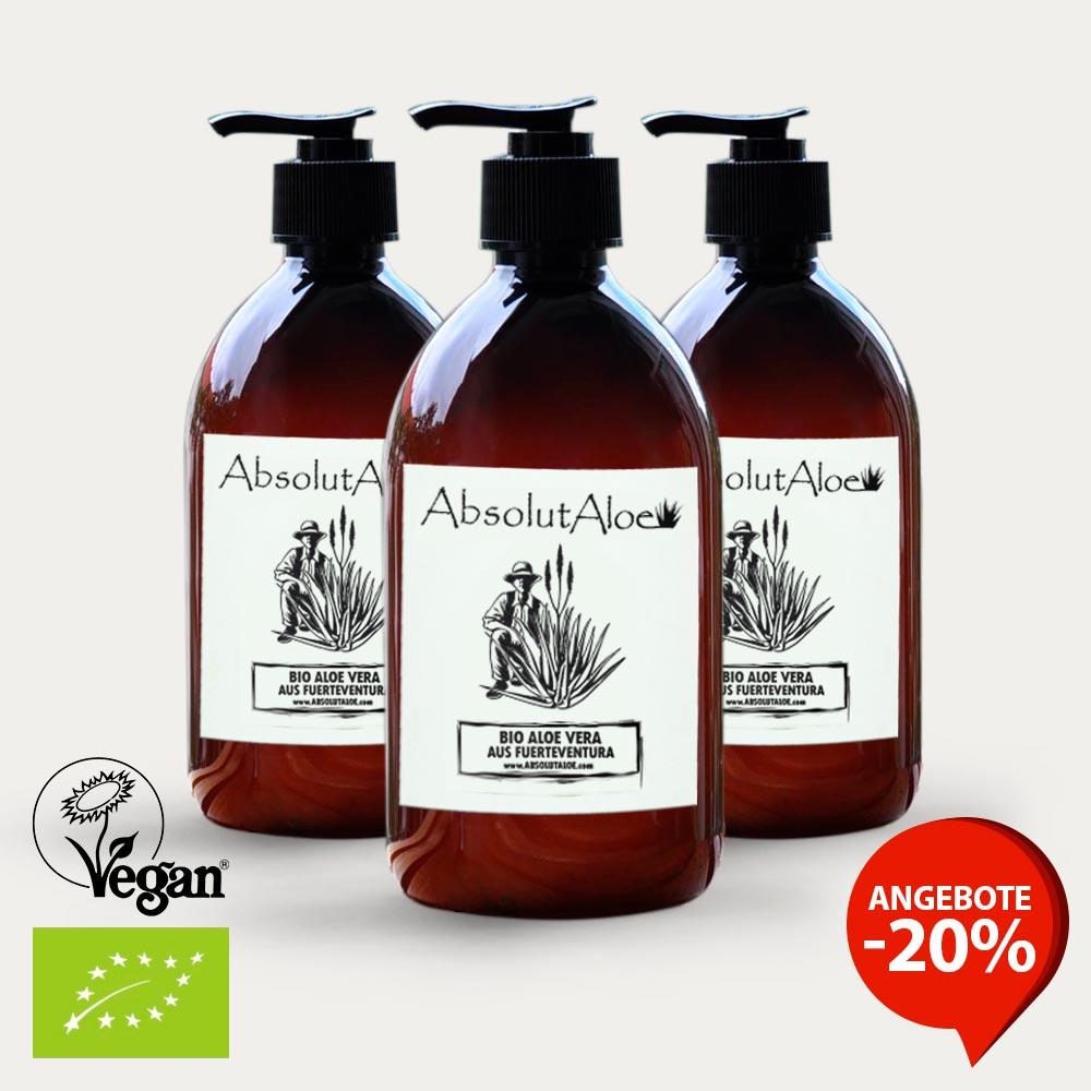 Angebote Reines Aloe Vera Gel 1500ml - AbsolutAloe