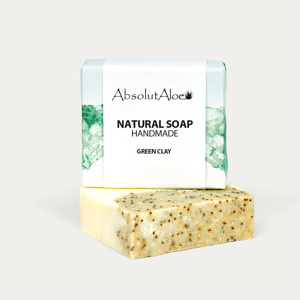 Natural Green Clay Soap - AbsolutAloe